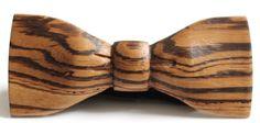 Slim Timber Zebrawood Wood Bow Tie – Tradewick