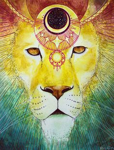 Lion Wears the Crown by Annelie Solis