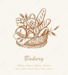 Download - Bakery background 2 — Stock Illustration #23744875