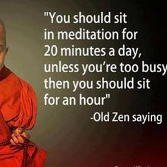 Love this…should find time today for 20 #EasyMeditation
