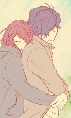 Imagem de anime, love, and ao haru ride Anime Love, Manga Love, Manga Girl, Ao Haru Ride Anime, Kawaii, Futaba Y Kou, Futaba Yoshioka, Manga Anime, Anime Kiss