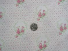 Yuwa 1890's French Pink Roses on Pink and Cream Small Scale Dolls Cotton Fabric  #Yuwa