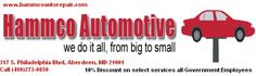 All Government Employees and Defense Contractors receive discounts on services, towing and Used Auto Sales at Hammco Automotive.  Gov-Savings.com Merchant Discount Program Exclusive   Proper ID required