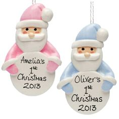 Personalised Handmade Father Christmas Ornament for Kids  from Personalised Gifts Shop - ONLY £9.99