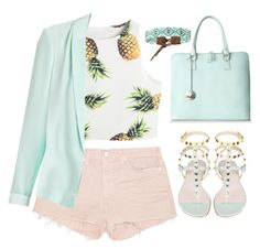 """""""Summer look"""" by hungry-unicorn ❤ liked on Polyvore featuring J Brand, Ella Valentine and Chan Luu"""