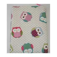 """Owl Kindle Touch 6"""" Nook Kobo Zipped Case Cover PVC Oilcloth Owls"""