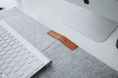 FOUNDSPACENZ — linxspiration: Grey Felt Desk Mat - Buy Here. ...