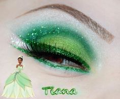 Disney Princess inspired eye makeup.