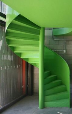 Green Spiral Stairs: City of Arts Ateliers, Ciudad de Córdoba, Argentina