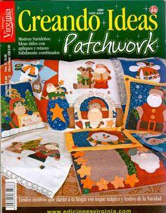 Album Archive - 141 natal Creando Ideas patchwork n. Diy Denim Wallet, Christmas Books, Christmas Crafts, Diy Pouch Tutorial, Christmas Patchwork, Fabric Gift Bags, Cross Stitch Books, Patch Aplique, Painted Books