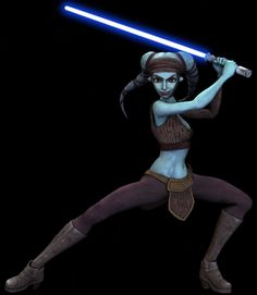 Aayla Secura was a Twi'lek Jedi Knight in the last days of the Galactic Republic. As a Jedi, she was also a General in the Clone Wars. She was trained by both Quinlan Vos and Tholme and was very close to her fellow Jedi Kit Fisto. Star Wars Rpg, Star Wars Clone Wars, Kit Fisto, Starwars, Princesa Leia, Star Wars Concept Art, Star Wars Models, Star Wars Gifts, Mara Jade