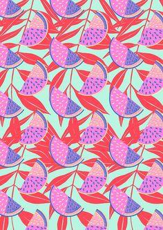 Hannah Rampley - textile design - watermelon