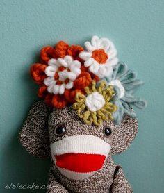 Homemade sock monkeys!