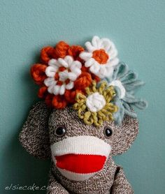 Homemade sock monkeys!