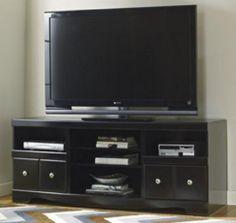 "63"" Shay Black LG TV Stand w/Fireplace Option Signature Design by Ashley http://www.amazon.com/dp/B00K5N1JQQ/ref=cm_sw_r_pi_dp_lobcxb1ZZD6HH"