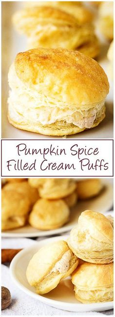 A simple and sweet pumpkin spice filled cream puffs recipe that creates a bite-sized dessert perfect for dinner parties or family get-togethers. via @berlyskitchen