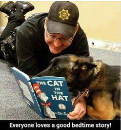 One of our K9 deputies reading to his partner. http://ift.tt/2djkMFR