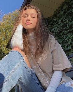 Teenage Outfits, Teen Fashion Outfits, Fall Outfits, Summer Outfits, Cute Casual Outfits, Retro Outfits, Aesthetic Fashion, Aesthetic Clothes, Tumbrl Girls