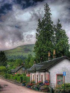 Loch Lomond Cottage, Luss village.