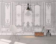 Classic Interior, Home Interior, Fabric Wallpaper, Photo Wallpaper, Temporary Wallpaper, Mosaic Wall Art, Wall Molding, Bathroom Wall Decor, Bedroom Wall