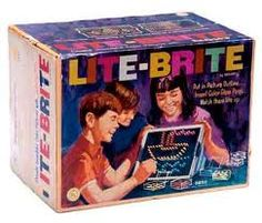 Lite Brite making things with light.outta site makin' things with Lite Brite (LOL - lyrics to the commercial) Lite Brite, 1970s Toys, Retro Toys, Vintage Toys, Vintage Games, Antique Toys, My Childhood Memories, Childhood Toys, School Memories