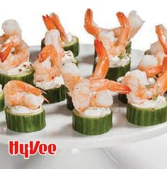 Need a simple and elegant appetizer? Arrange Chilled Shrimp and Cucumber on a platter and you're set. Swapping the sour cream for light sour cream or Greek yogurt works just fine.