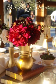 Come see our DIY Elegant Wedding Decor post- full of easy to do touches that have a big impact for your special day. #WeddingDecor #WeddingDecorIdeas
