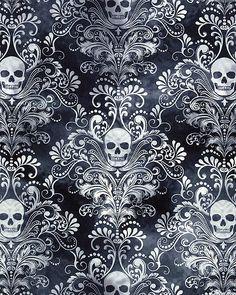 Wicked Eve - Skull Flourish - Smoke Gray