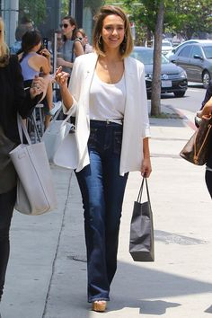 08c8263aab675 Jessica Alba steps out in LA wearing the 7 For All Mankind Vintage Trousers  High Waisted