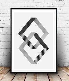 Minimalist Geometric Print In Monochrome Palette