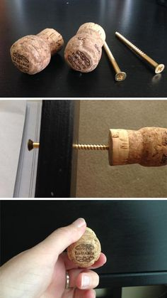a free afternoon and a collection of old wine corks? Here are 5 charming diy cork projects that are fun, easy and quick.Got a free afternoon and a collection of old wine corks? Here are 5 charming diy cork projects that are fun, easy and quick. Wine Craft, Wine Cork Crafts, Wine Bottle Crafts, Wine Cork Trivet, Wine Cork Holder, Wine Cork Art, Wine Cork Projects, Wood Projects, Craft Projects