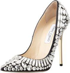 Jimmy Choo Tia Pointy-Toe Jewel Pump on shopstyle.com.au