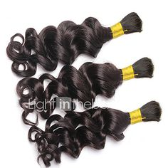 Loose Deep Wave Human Braiding Hair Bulk No Weft Crochet Braids with Curly Human Hair for Micro Braids Curly Bulk Braiding Hair - USD $77.00 ! HOT Product! A hot product at an incredible low price is now on sale! Come check it out along with other items like this. Get great discounts, earn Rewards and much more each time you shop with us!