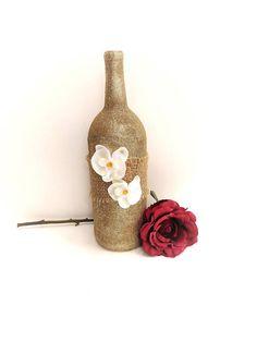 Gold Glitter Wine Bottle Decor Gold Wedding Centerpiece