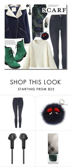 """""""Winter Scarf Style (casual)"""" by beebeely-look ❤ liked on Polyvore featuring Topshop, Fendi, Bang & Olufsen, Burberry, casual, Sweater, scarf, sammydress and streetwear"""
