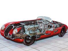 1941 Alfa Romeo 8C 2900B Spider Sperimentale (№412043) - Illustration attributed to Rens Biesma