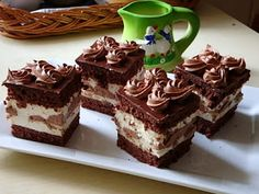 Cold Desserts, Hungarian Recipes, Chocolate, Diy Food, Cake Cookies, Cupcakes, Tiramisu, Cheesecake, Food And Drink