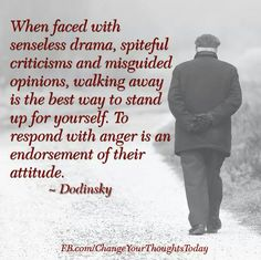 Yes!  Walk away....   A recovery from narcissistic sociopath relationship abuse.