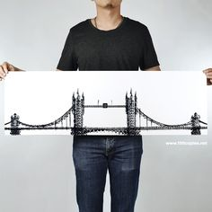 Architectural Landmarks Created with Bicycle Tire Tracks by Thomas Yang