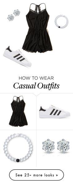 """casual:)"" by kenzierankin on Polyvore featuring Hollister Co., adidas Originals and Lokai"