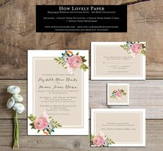This listing is for a PRINTABLE 5x7 single-sided invitation, 5x3.5 single-sided response card, 5x3.5 single-sided details card, and 2x2
