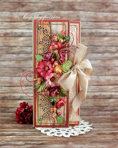 Hello everybody Klaudia here. Today I'd like to show you my another chocolate card. It will be a gift for a kindergarten teacher from chil...