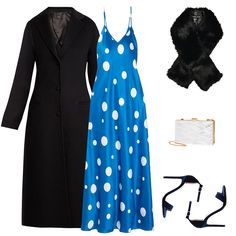 - Prove polka dots can be sexy via a slinky slip dress, a fresh alternative to the LBD. A faux-fur stole, velvet ankle-strap sandals and a chic box clutch to bolster the glam. A timeless black longline coat is a must en route.