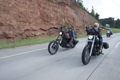 The Biker Belles women's celebration and charity ride at the Sturgis Buffalo Chip