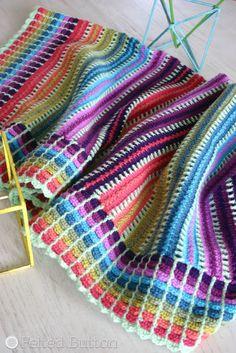 Skittles Blanket Free Crochet Pattern – Felted Button