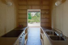 Diseño de cocina pequeña rústica