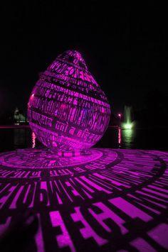 interactive illuminated public art for library and art center / Joe O'Connell + Blessing Hancock Public Art