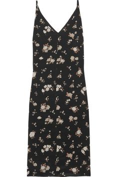 Golden Goose Deluxe Brand - Floral-print Silk-crepe Midi Dress - Black -
