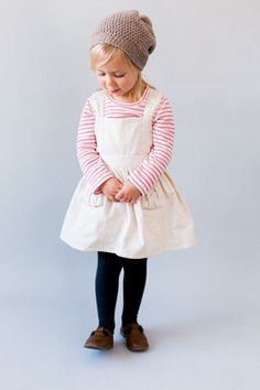 Ayla Toddler Pinafore Dress  Vintage Girls Dress 2T 3T 4T