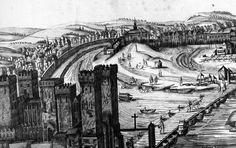 Así de imponente se alzaba en el siglo XVI el Castillo de Triana o de San Jorge. Propiedad de la Inquisición